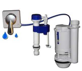 Being Waters Dual Flush Toilet Retrofit Kit